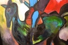 peinture à l'huile, 196x130 cm,2019