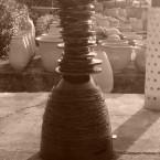 totem sculpture eve carton laquee noire
