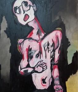Tête en l'air, huile sur toile, 65X81 cm, 2012