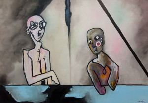 Pas de bras, pas de chocolat, huile sur toile, 114X162 cm, 2012