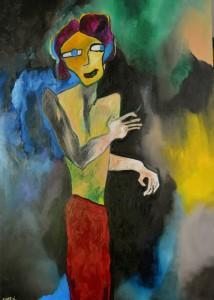 Sagan, Huile sur toile, 114X162 cm. 2013