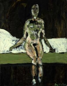 Lit vert. Huile sur toile, 27X27 cm, 2009
