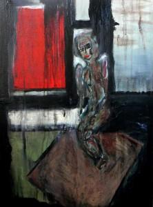 La Môme. Huile sur toile, 2009.