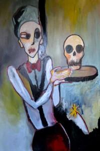 L'hallucination de Burroughs, huile sur toile, 90X130 cm, 2011