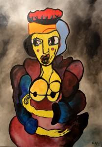 Reine, huile sur toile, 114X162 cm  2011