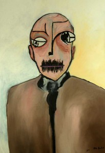 American Psycho. Huile sur toile, 130X90 cm, 2011