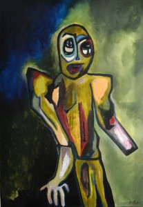 Manchot, huile sur toile, 70X100 cm, 2014