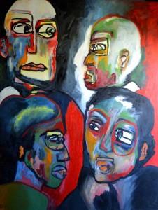 Cartel. Huile sur toile, 115X150 cm, 2009