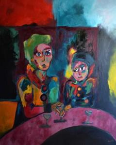 Conséquences. Huile sur toile, 160X130 cm, 2010