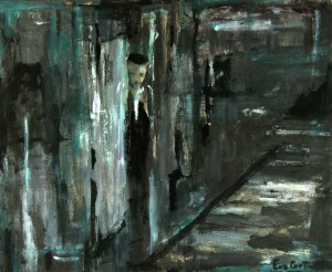 Dos au mur. Huile sur toile, 2008.