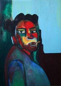 Fumador. Huile sur toile, 2009