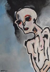 L'homme blanc, huile sur toile, 50x70 cm, 2013