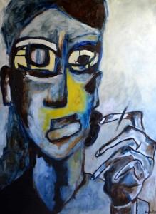 L'Existentielle. Huile sur toile, 130X96 cm, 2010