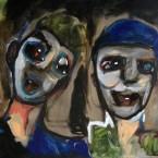 Copains, huile sur toile, 61X50 cm, 2014