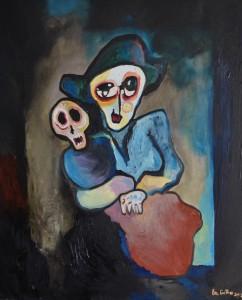Le marionnettiste, huile sur toile, 73x60 cm 2013