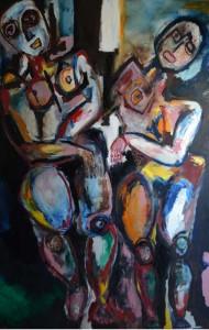 Métronome. Huile sur toile, 196X130 cm, 2010