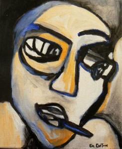 Papa. Huile sur toile, 27X27 cm , 2010
