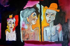 Portrait de famille. Huile sur toile, 196X130 cm 2011