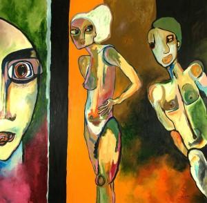 Printemps. Huile sur toile, 200X200 cm, 2011
