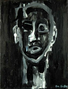 Serge. Huile et laquée sur toile, 27X27 cm, 2009