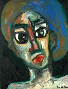 Voyante. Huile sur toile, 27X27 cm, 2009