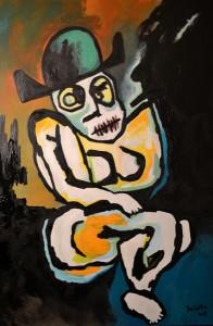 Simone. Huile sur toile, 145X97 cm, 2011