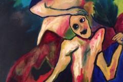 Guerre, huile sur toile, 73x92cm