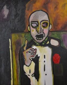 La voix de son maître, 50X61 cm, huile sur toile, 2013