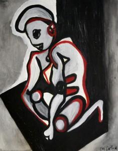 Delphine, Huile sur toile, 40X50 cm 2014